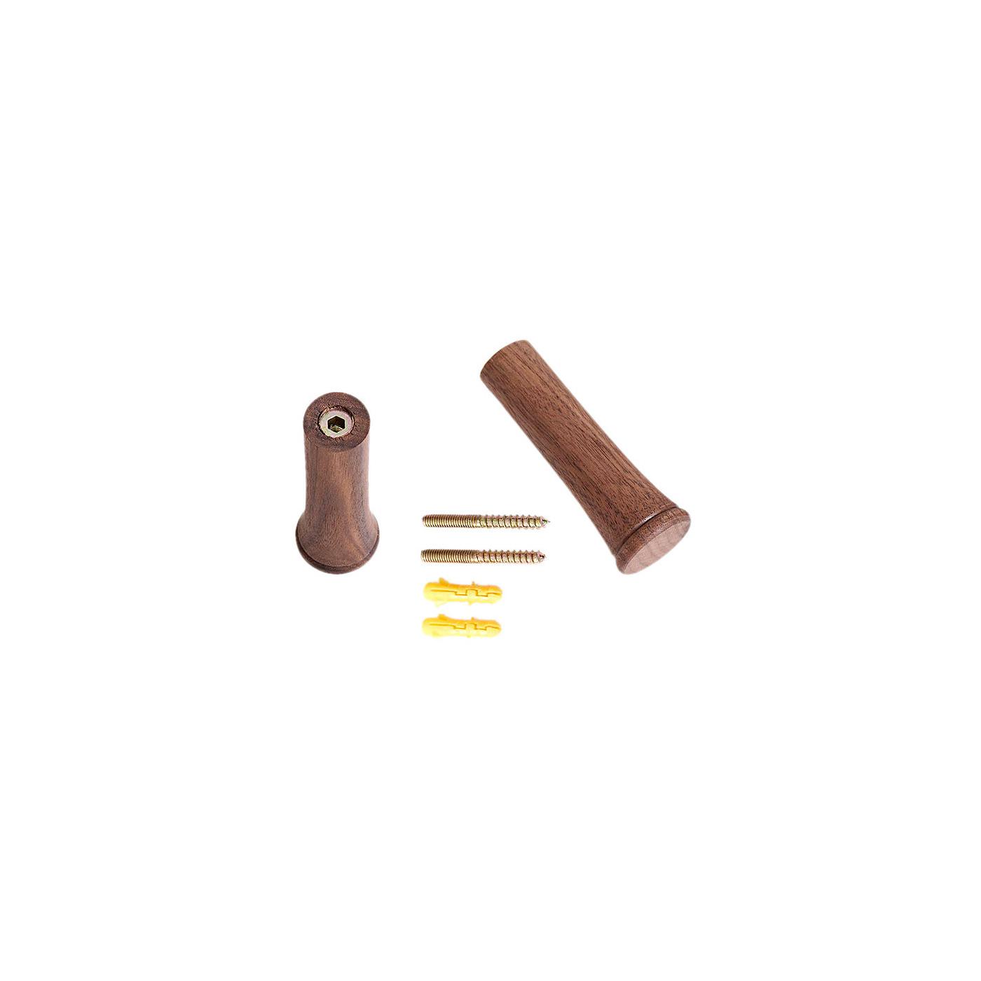 Set van 6 kledinghaken uit notenhout