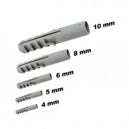 Set of 100 nylon wall plugs (10 mm)