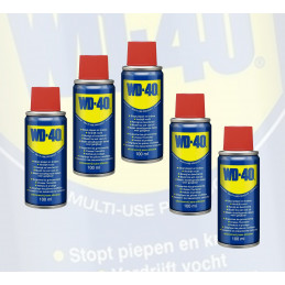 Set van 5 spuitbusjes WD-40 (100 ml per bus, met smart straw