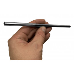 Set of 20 stainless steel pipes/straws (8 mm diameter)