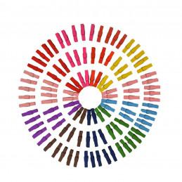 Set van 300 gekleurde micro wasknijpers (25 mm, hout)