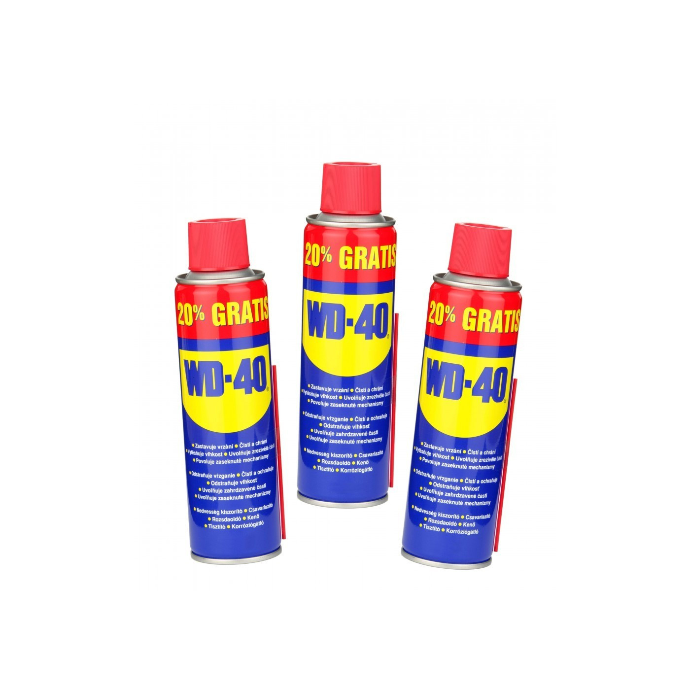 Set of 3 cans WD-40 (480 ml, multi use product in a can)